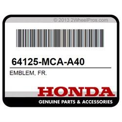 FR. HONDA 64125-MCA-A40 EMBLEM