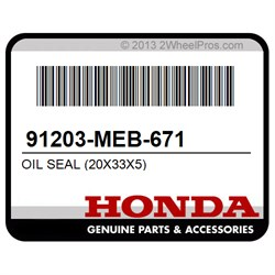 Honda Part # 91203-MEB-671 20x33x5 OIL SEAL