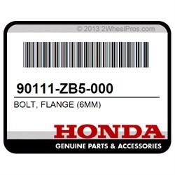 6X8 Honda 95701-06008-07 Bolt Flange