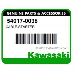 Kawasaki 2008-2018 Klx140 Klx140g Starter Cable 54017-0038 New Oem