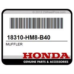 MUFFLER Honda 18310-HM8-B40