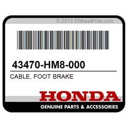 RECON ES 43470-HM8-000 HONDA OEM FOOT BRAKE CABLE RECON SPORTRAX