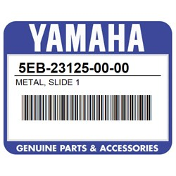 5EB-23125-00-00 Yamaha 3XJ-23125-L0-00 Metal Slide 1 Supersedes