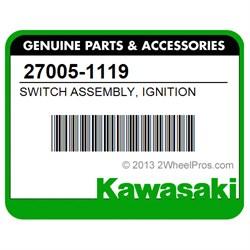 IGNITION KEY SWITCH FITS KAWASAKI 27005-1119