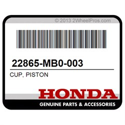 PISTON HONDA 22865-MB0-003 CUP
