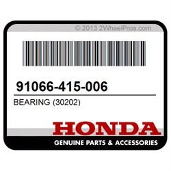 Honda OEM 91066-415-006 Bearing 30202
