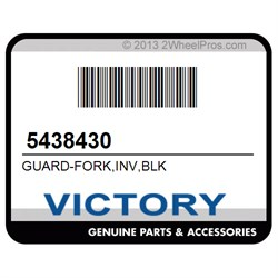 Polaris 5438430 GUARD-FORK INV BLK