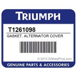 Triumph 1050 Sprint GT /& 1050ST Left Side Alternator Crank Cover Gasket T1261098